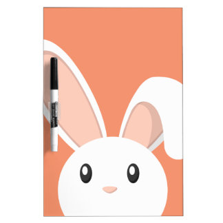 Easter Bunny peeping Dry Erase Board