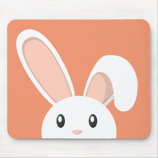 Easter Bunny peeping Mouse Pad