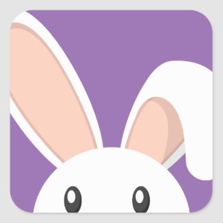 Easter Bunny peeping Square Sticker