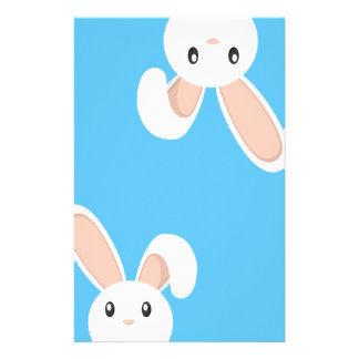 Easter Bunny peeping Stationery