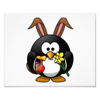 Easter Bunny Penguin Art Photo