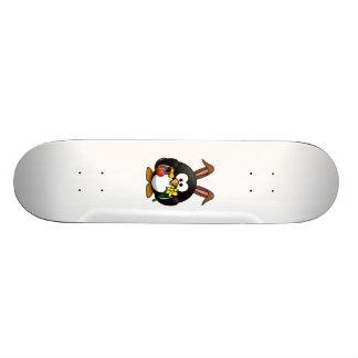 Easter Bunny Penguin Custom Skateboard