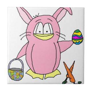 Easter Bunny Penguin Tile