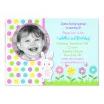"""Easter Bunny Photo Birthday Party Invitations 5"""" X 7"""" Invitation Card"""