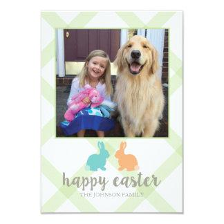 Easter Bunny Photo Card Green