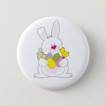 Easter Bunny Pinback Button