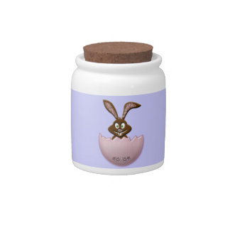 Easter bunny - pink candy dish