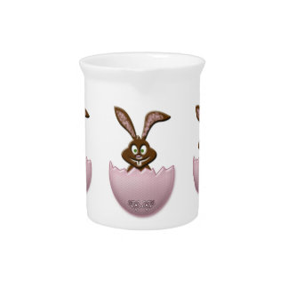 Easter bunny - pink pitcher