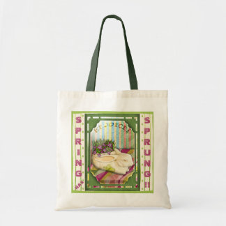 Easter Bunny Planter - Green (Personalized) Budget Tote Bag
