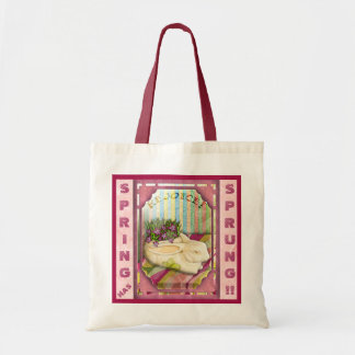 Easter Bunny Planter - Pink (Personalized) Tote Bag