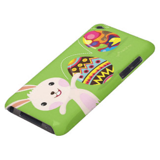 Easter bunny playful with painted eggs barely there iPod case