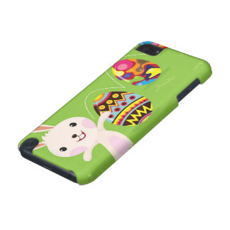 Easter bunny playful with painted eggs iPod touch (5th generation) cover