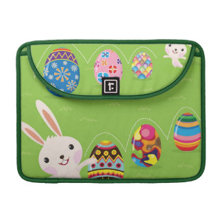 Easter bunny playful with painted eggs sleeve for MacBook pro