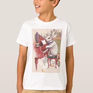 Easter Bunny Playing Piano Hyacinth T-Shirt