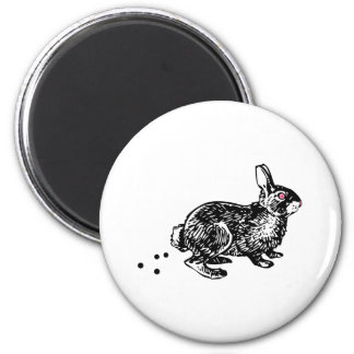 Easter Bunny Poo 2 Inch Round Magnet