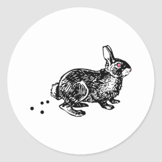 Easter Bunny Poo Classic Round Sticker