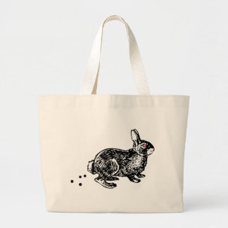 Easter Bunny Poo Large Tote Bag