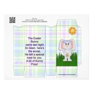 Easter Bunny POOP Pinch box Party Favors FUNNY Flyer