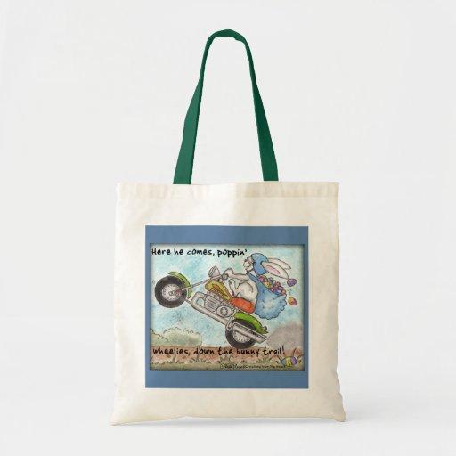 Easter Bunny Poppin' Wheelies Budget Tote Bag