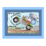 Easter Bunny Poppin' Wheelies Postcards