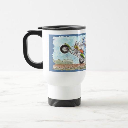 Easter Bunny Poppin' Wheelies Travel Mug
