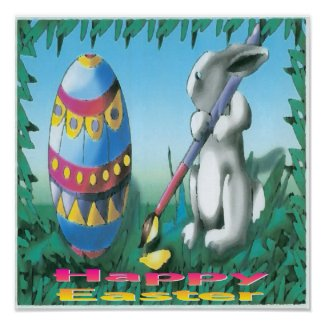 Easter Bunny Poster print
