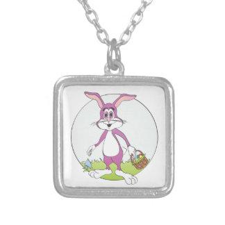 Easter Bunny Purple Rabbit Cartoon Pendants