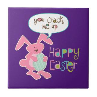 Easter Bunny Purple Tile