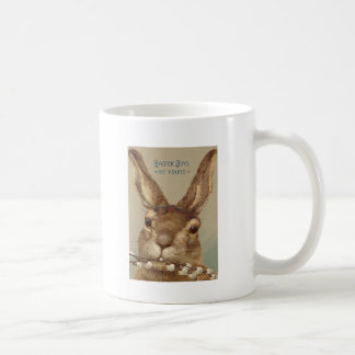 Easter Bunny Pussy Willow Floral Coffee Mug