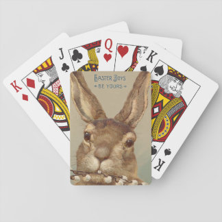 Easter Bunny Pussy Willow Floral Playing Cards