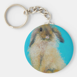 Easter Bunny Rabbit Basic Round Button Keychain