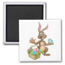 Easter Bunny Rabbit Egg Hunt Cartoon Magnet