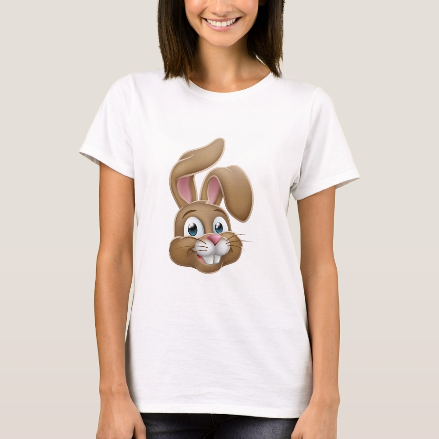 Easter Bunny Rabbit Face Cartoon T-Shirt - Best Selling Long-Sleeve Street Fashion Shirt Designs
