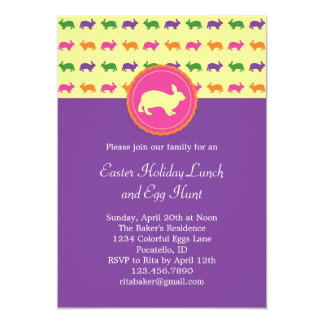 Easter Bunny Rabbit Invitation