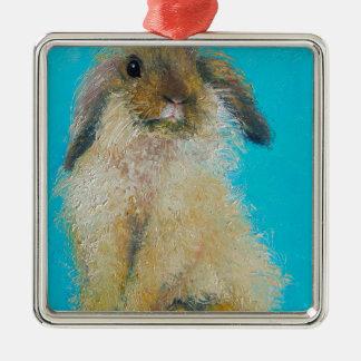 Easter Bunny Rabbit Metal Ornament