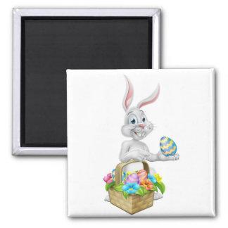 Easter Bunny Rabbit on Egg Hunt Magnet