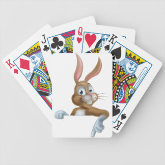 Easter Bunny Rabbit Pointing Down Bicycle Playing Cards
