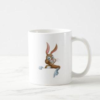 Easter Bunny Rabbit Pointing Down Coffee Mug