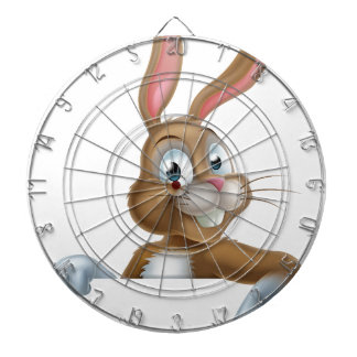 Easter Bunny Rabbit Pointing Down Dart Board