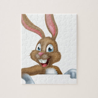 Easter Bunny Rabbit Pointing Down Puzzle