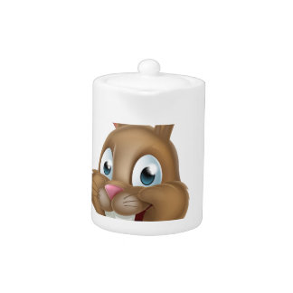 Easter Bunny Rabbit Pointing Down Teapot