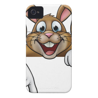 Easter Bunny Rabbit Pointing iPhone 4 Case-Mate Case