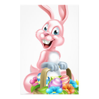 Easter Bunny Rabbit with Basket Stationery