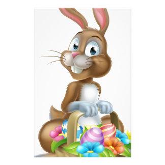 Easter Bunny Rabbit with Eggs Hamper Basket Stationery