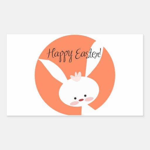 Easter Bunny Rectangular Sticker