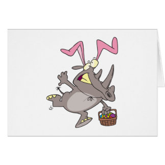 easter bunny rhino card