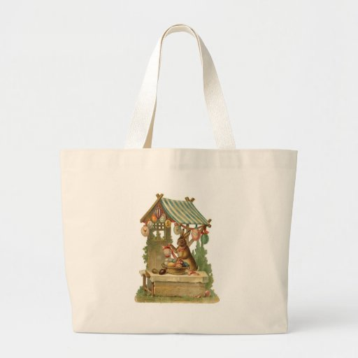 Easter Bunny Roadside Egg Stand Canvas Bags