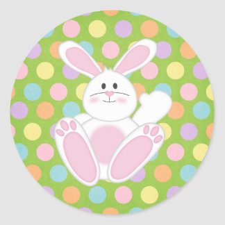 Easter Bunny Round Stickers