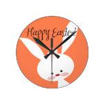 Easter Bunny Round Wallclocks