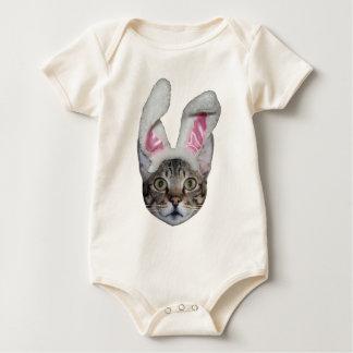 Easter Bunny Savannah Cat Baby Bodysuit